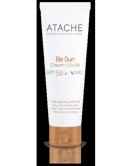 Atache Омолаживающий солнцезащитный крем для лица с тоном SPF 50+ для нормальной и сухой кожи