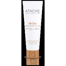 Atache Омолаживающий солнцезащитный крем-гель с тоном SPF 50+ для жирной и комбинированной кожи